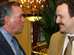 Mayor of Chicago Richard Daley and CEO of Intellectual Resources Co. Victor Kovshevny